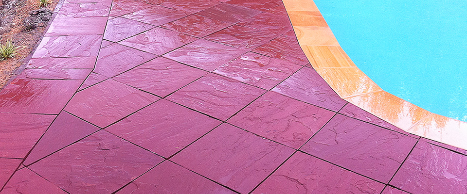 Swimming pool paving and coping